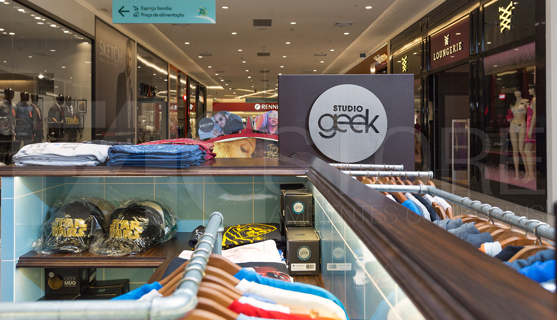 Quiosques para Shopping Studio Geek