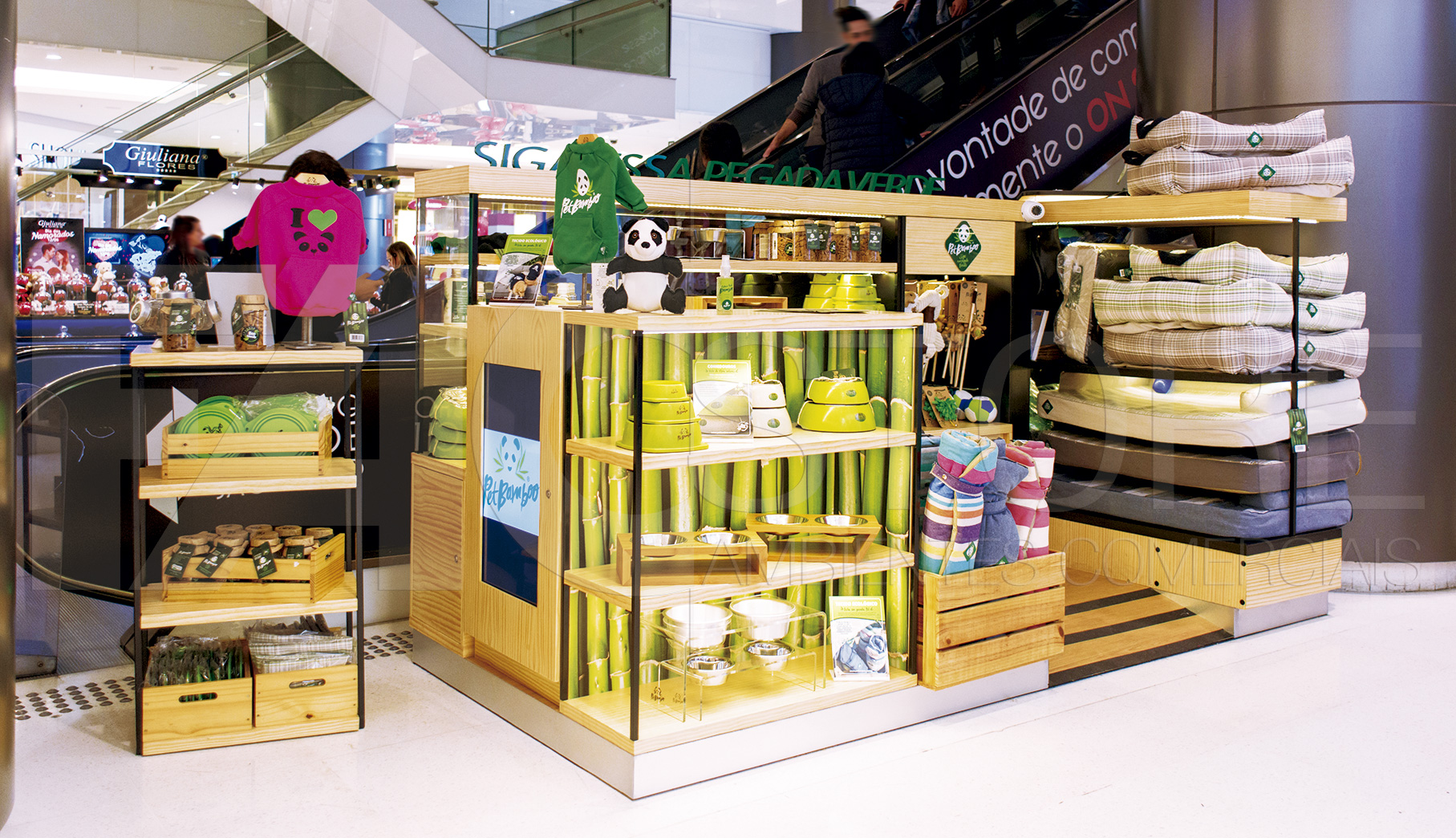 Quiosque para Shopping Pet-Bamboo