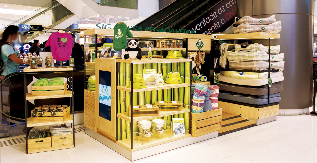 Quiosque para Shopping Pet Bamboo